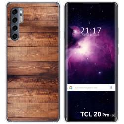 Funda Gel Tpu para TCL 20 Pro 5G diseño Madera 02 Dibujos