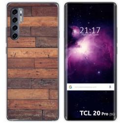 Funda Gel Tpu para TCL 20 Pro 5G diseño Madera 03 Dibujos