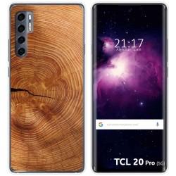 Funda Gel Tpu para TCL 20 Pro 5G diseño Madera 04 Dibujos