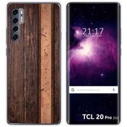 Funda Gel Tpu para TCL 20 Pro 5G diseño Madera 05 Dibujos