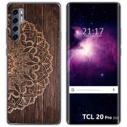 Funda Gel Tpu para TCL 20 Pro 5G diseño Madera 06 Dibujos