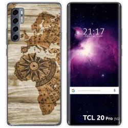 Funda Gel Tpu para TCL 20 Pro 5G diseño Madera 07 Dibujos