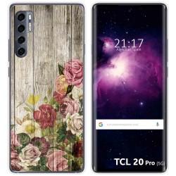 Funda Gel Tpu para TCL 20 Pro 5G diseño Madera 08 Dibujos