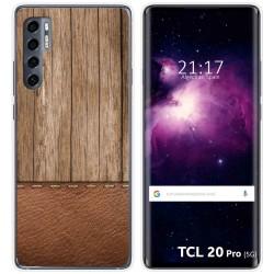 Funda Gel Tpu para TCL 20 Pro 5G diseño Madera 09 Dibujos