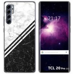 Funda Gel Tpu para TCL 20 Pro 5G diseño Mármol 01 Dibujos