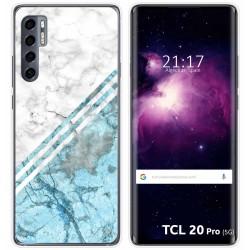 Funda Gel Tpu para TCL 20 Pro 5G diseño Mármol 02 Dibujos
