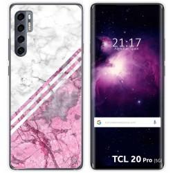 Funda Gel Tpu para TCL 20 Pro 5G diseño Mármol 03 Dibujos