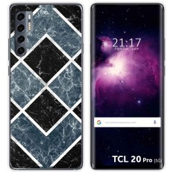 Funda Gel Tpu para TCL 20 Pro 5G diseño Mármol 06 Dibujos