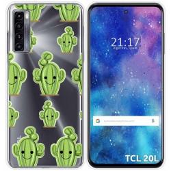 Funda Gel Transparente para TCL 20L / 20L+ diseño Cactus Dibujos