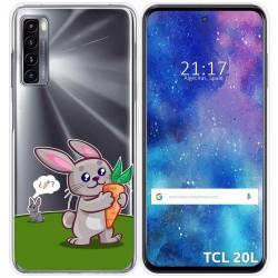 Funda Gel Transparente para TCL 20L / 20L+ diseño Conejo Dibujos