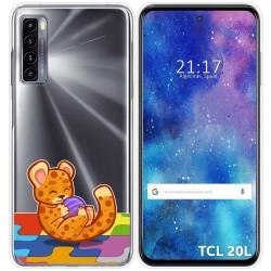 Funda Gel Transparente para TCL 20L / 20L+ diseño Leopardo Dibujos