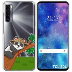 Funda Gel Transparente para TCL 20L / 20L+ diseño Panda Dibujos