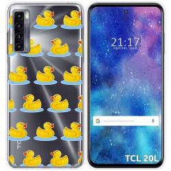 Funda Gel Transparente para TCL 20L / 20L+ diseño Pato Dibujos