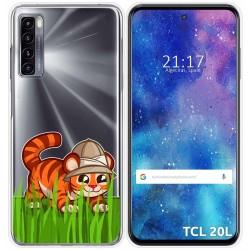 Funda Gel Transparente para TCL 20L / 20L+ diseño Tigre Dibujos