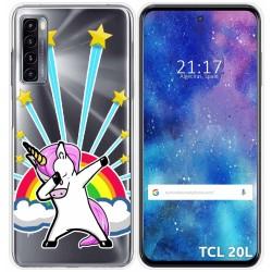 Funda Gel Transparente para TCL 20L / 20L+ diseño Unicornio Dibujos