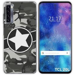 Funda Gel Tpu para TCL 20L / 20L+ diseño Camuflaje 02 Dibujos