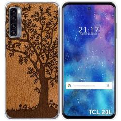Funda Gel Tpu para TCL 20L / 20L+ diseño Cuero 03 Dibujos