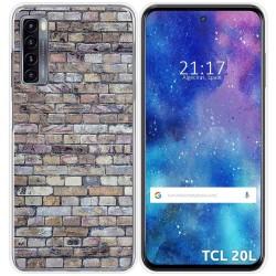 Funda Gel Tpu para TCL 20L / 20L+ diseño Ladrillo 02 Dibujos