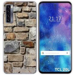 Funda Gel Tpu para TCL 20L / 20L+ diseño Ladrillo 03 Dibujos