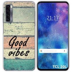 Funda Gel Tpu para TCL 20L / 20L+ diseño Madera 01 Dibujos