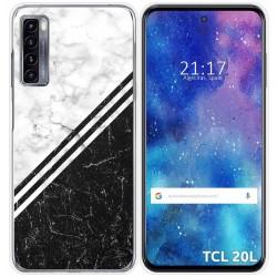 Funda Gel Tpu para TCL 20L / 20L+ diseño Mármol 01 Dibujos