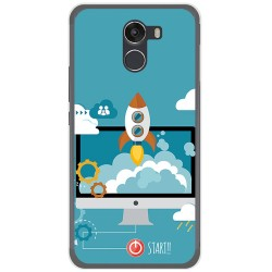 Funda Gel Tpu para Wileyfox Swift 2 Diseño Cohete Dibujos