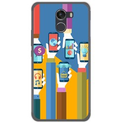 Funda Gel Tpu para Wileyfox Swift 2 Diseño Apps Dibujos