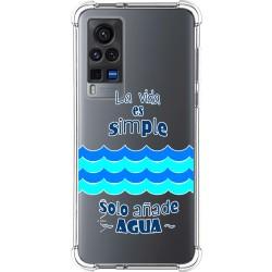 Funda Silicona Antigolpes para Vivo X60 Pro 5G diseño Agua Dibujos