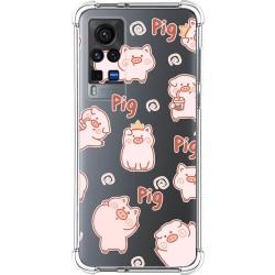 Funda Silicona Antigolpes para Vivo X60 Pro 5G diseño Cerdos Dibujos
