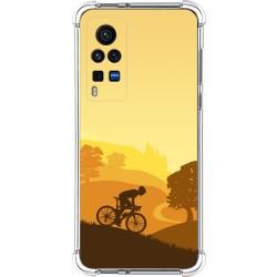 Funda Silicona Antigolpes para Vivo X60 Pro 5G diseño Ciclista Dibujos