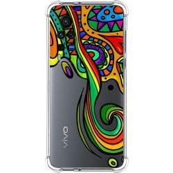 Funda Silicona Antigolpes para Vivo X60 Pro 5G diseño Colores Dibujos