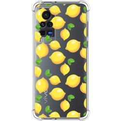 Funda Silicona Antigolpes para Vivo X60 Pro 5G diseño Limones Dibujos