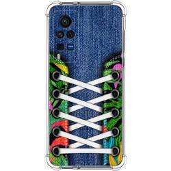 Funda Silicona Antigolpes para Vivo X60 Pro 5G diseño Zapatillas 13 Dibujos