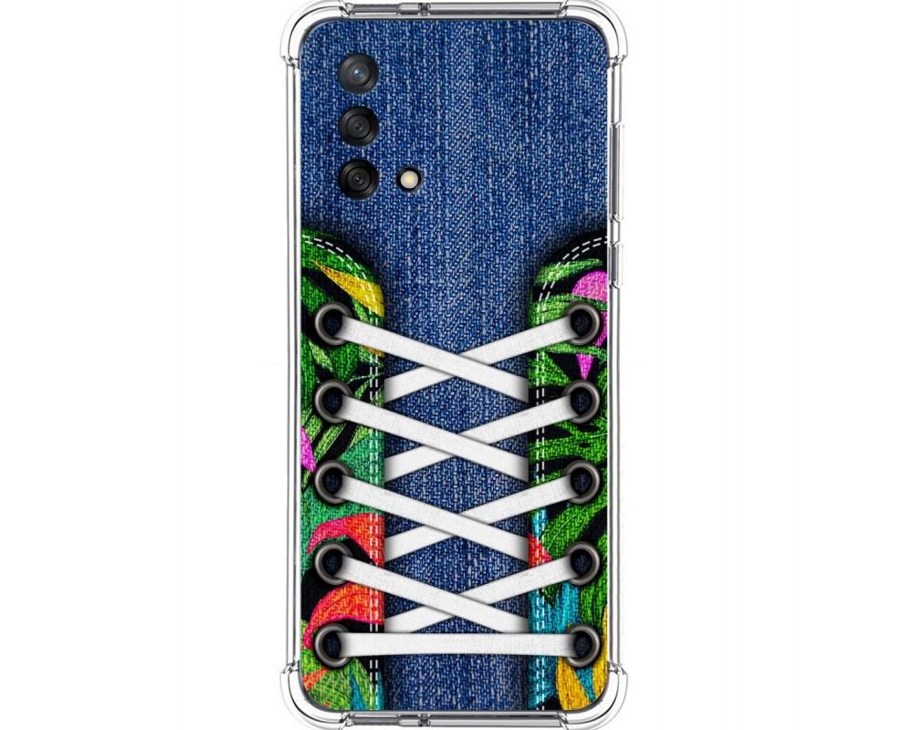 Funda Silicona Antigolpes para Oppo A74 4G diseño Zapatillas 13 Dibujos