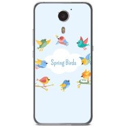 Funda Gel Tpu para Umi Plus Diseño Spring Birds Dibujos