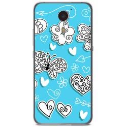 Funda Gel Tpu para Umi Plus Diseño Mariposas Dibujos
