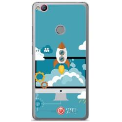 Funda Gel Tpu para Zte Nubia Z11 Diseño Cohete Dibujos