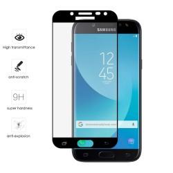 Protector Cristal Templado Frontal Completo Negro para Samsung Galaxy J7 (2017) Vidrio