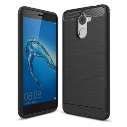 Funda Gel Tpu Tipo Carbon Negra para Huawei Y7