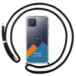 Personaliza tu Funda Colgante Transparente para Oppo Reno 4Z 5G con Cordon Negro Dibujo Personalizada
