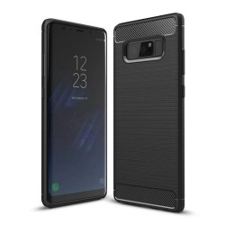 Funda Gel Tpu Tipo Carbon Negra para Samsung Galaxy Note 8
