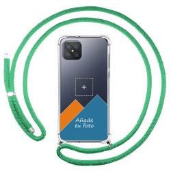 Personaliza tu Funda Colgante Transparente para Oppo Reno 4Z 5G con Cordon Verde Agua Dibujo Personalizada