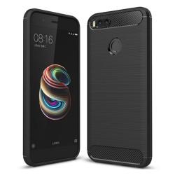 Funda Gel Tpu Tipo Carbon Negra para Xiaomi Mi 5X / Mi A1