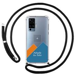 Personaliza tu Funda Colgante Transparente para Vivo X51 5G con Cordon Negro Dibujo Personalizada