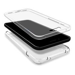Funda Gel Tpu Completa Transparente Full Body 360º para Samsung Galaxy J7 (2017)