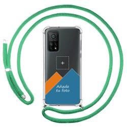Personaliza tu Funda Colgante Transparente para Xiaomi Mi 10T 5G / MI 10T Pro 5G con Cordon Verde Agua Dibujo Personalizada