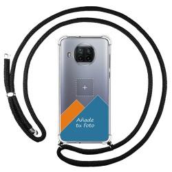 Personaliza tu Funda Colgante Transparente para Xiaomi Mi 10T Lite 5G con Cordon Negro Dibujo Personalizada