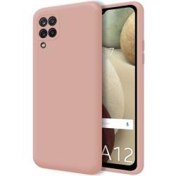Funda Silicona Líquida Ultra Suave para Samsung Galaxy A12 color Rosa