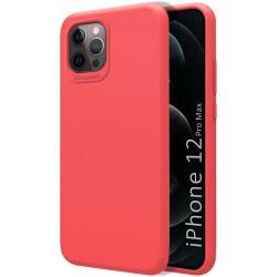 Funda Silicona Líquida Ultra Suave para Iphone 12 Pro Max (6.7) color Rosa