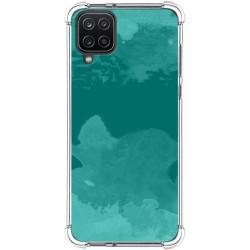 Funda Silicona Antigolpes para Samsung Galaxy A12 diseño Acuarela 06 Dibujos